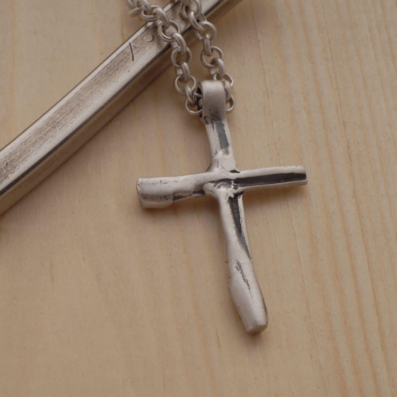 Men S Cross Necklace Sterling Silver Cross Pendant For