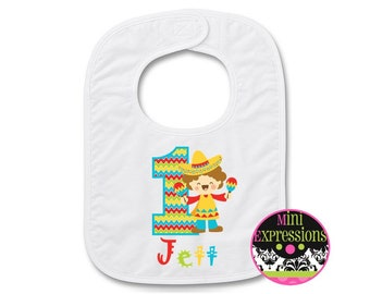 Fiesta Personalized Birthday BIB Personalized With Any NAME