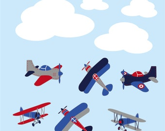 Airplane Wall Decals Plane Wall Decals Planes And Clouds 3d