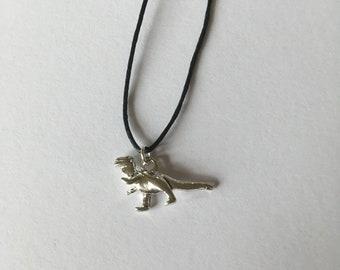 Handmade T Rex Dinosaur Tibetan Silver Necklace Choker