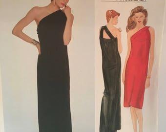 vintage Vogue 2851 pattern, Adele Simpson designer, evening off shoulder,