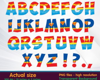 Superman Clip Art Letters - World Wide Clip Art Website •