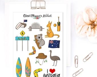 Ich liebe Australien Reise Sticker | Australien-Aufkleber | Reisen Aufkleber | Fernweh-Aufkleber | Koala Bär Aufkleber (S-320)