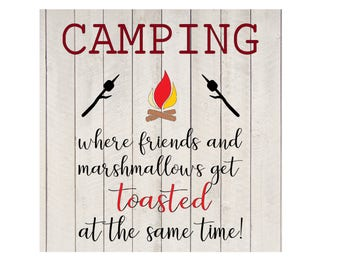 Camping Friends and Marshmallows get Toasted svg jpeg vector design