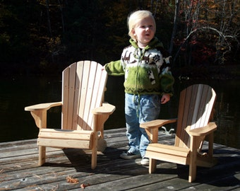 Junior Size Adirondack Chair Plans - DWG files for CNC machines