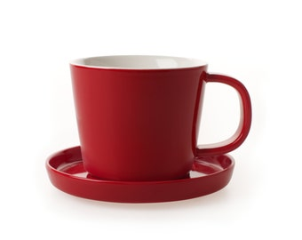 MIDO - Red Cup and Saucer