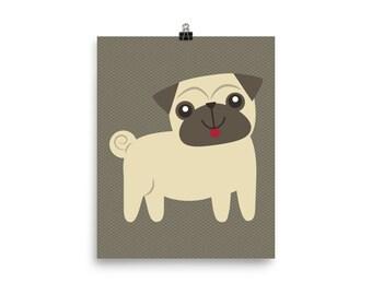 Puppy pug print