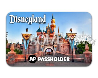 Sleeping Beauty's Castle Disneyland Passholder Sticker