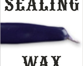 PLUM traditional wax sticks with wicks - Scottish style breakable sealing wax - 10 pieces - 1/2 PRICE SALE