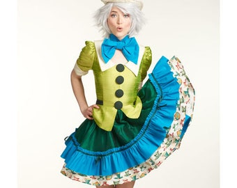 Simplicity Pattern 8237-Lolita  Mad Hatter and the White Rabbit from Alice in Wonderland Costume Plus Size
