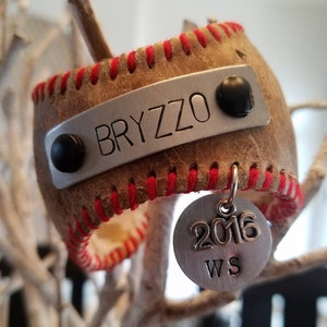 Chicago Cubs Bryzzo Baseball Cuff Bracelet - Rizzo and Bryant - World Series 2016 - Cubs Team Jewelry - Team Spirit Wear