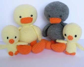 Amigurumi Little Duck, Crochet Little Duck, Amigurumi Chick, Amigurumi Toy, Amigurumi Duck,Crochet Plush, Amigurumi Animal