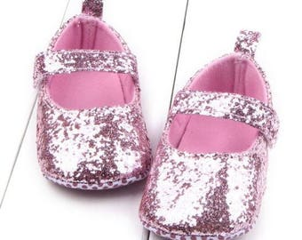 Pink Glitter Shoes, Pink Baby Shoes, Baby Girls Shoes, Pink Baby Shoes, Baby Shoes, Mocassins, Baby Shoes