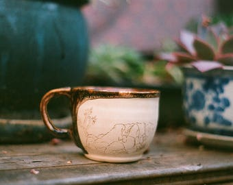 Hand Carved Joshua Tree Cappuccino Mug