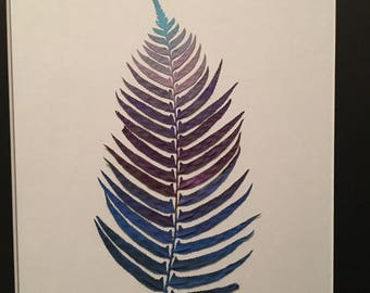 Purple and Blue Fern