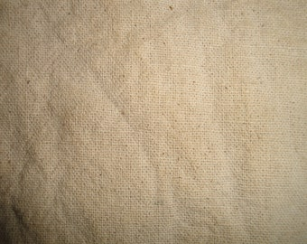 Osnaburg Fabric | Homespun Cotton Fabric | Osnaburg Coffee Dyed | Primitive Woven Fabric | Doll Making Fabric | Needlepoint Fabric | 1 Yard