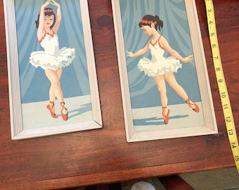 Ballerina paint by number set