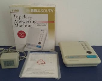 New old Stock - Vintage Bell South - Tapeless Answering Machine - In Box