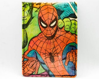 Spider-Man Wallet - Avengers Wallet - Comic Book Wallet - Vintage 1978 Spider-Man, Hulk, Captain America, Thing