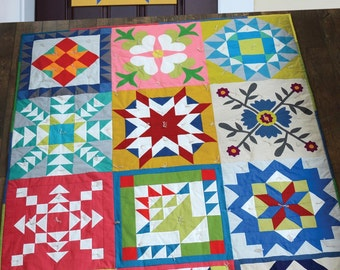 Barn Quilt Pattern by Cabbage Rose Quilts - Paint your own Barn Quilt Block - Or Make Barn Quilt Blocks with the Pattern