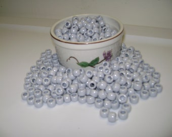 "6 x 9mm  ""Gray"" Plastic Pony Beads!! 50, 100, 150, 200, up to 500 Beads!!"