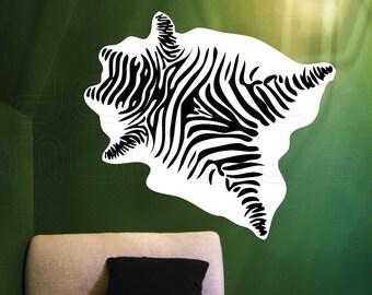 Wall decal ZEBRA SKIN Mural print Vinyl art sticker decor by Decals Murals