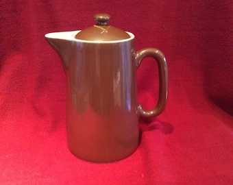 Pillivuyt Pillivite Brown Luster Porcelain Coffee Pot 20cm high 11.5cm Diameter at base