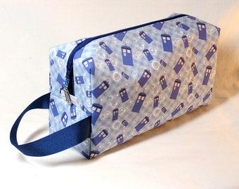 Tardis Blue Bubble Project Bag - Premium Fabric