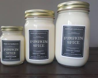 Pumpkin Apple Candle, Pumpkin Soy Candle, Apple Candle, Pumpkin Candle, Soy Candle, Organic Candle Mason Jar Candle, Mason Jar Soy Candle
