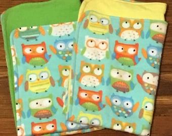 Owl Friends Burp Cloths
