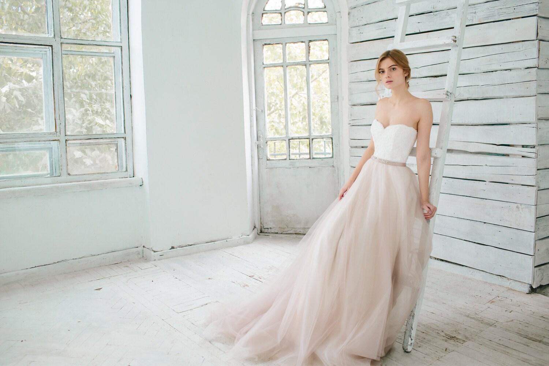 Erröten-Hochzeits-Kleid / / Dahlie / liebste Korsett Hochzeit