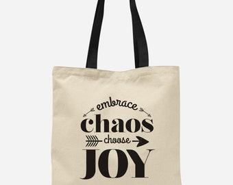 Choose Joy Tote Bag, Women's Tote Bag, Arrow Tote Bag, Cute Book Bag, Gift Idea For Her, Best Friend Gift Idea, Sister Gift Idea