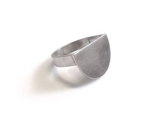 Sterling Silver Semi Circle Minimal Ring
