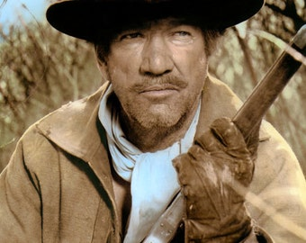 """Richard Boone Big Jake 1971 Hollywood Movie Star Actor 8x10"""" Hand Color Tinted Photograph"""