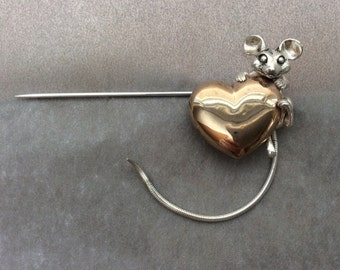 For the love of mice stick pin