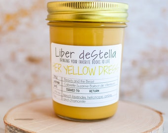 Her Yellow Dress - Beauty & The Beast Inspired Candle - Book Candle - Book Gift - Book Lover - Bookish