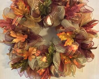 Fall Wreath,Autumn Wreath,Turkey Wreath,Thanksgiving Wreath