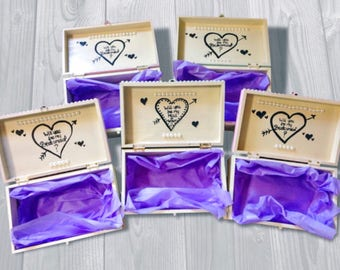 Will you be my maid of honor box - Bridesmaid and Maid of Honor Gifts - Matron of Honor - Flower girls - Proposal Boxes.