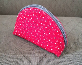 Essential oil zipper pouch/Essential oil cosmetic pouch/ Essential Oil Bag/ Oil storage bag/ Essential Oil Travel Bag/ Half Moon Shape