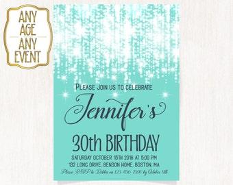 60th garden party invitation 50th birthday party Invitations