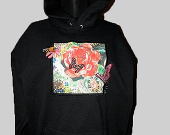 OOAK Sherlock Wallpaper Bored! Collection Cotton Hoodie Super Awesome! s6nvQkHBL