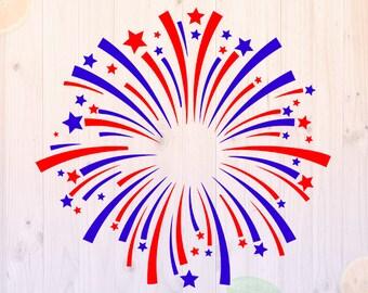 Fireworks svg Svg, 4th july cut file, Firework svg, dxf, eps, png files for cricut, Independence Day svg, fireworks t shirt, celebration svg