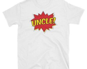 Super Uncle Shirt -  comic book shirt, funny uncle shirt, superhero shirt, uncle gift, new uncle shirt, uncle t shirt