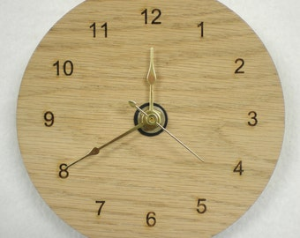 Basic Wall Hanging Clock - laser cut