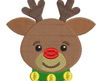 Rudolph Red Nosed Reindeer Christmas Machine Embroidery Designs 4x4 & 5x7 Instant Download Sale