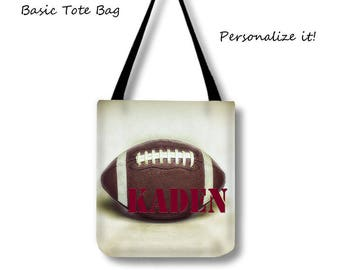 Personalized Tote-Football Tote Bag-Custom Football Tote-Custom Sports Bag-Weekender Tote Bag-Shoulder Tote Bag-Football Bag-Sports Tote