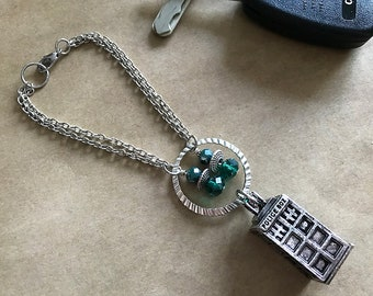 Doctor Who Tardis Car Rear View Mirror Car Charm