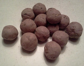 25 Bulk Wildflower Seed Bombs Hand Formed Red Earthenware Clay Wildflower Seeds Wedding Favors Gifts For Gardeners and Mom
