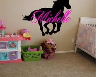 Custom Horse with Name Wall Decal