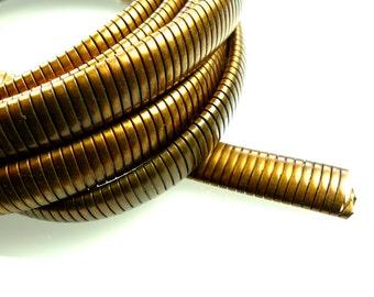 Flat snake chain raw brass 1960s genuine MOD style 1m